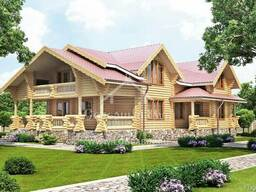 Ecological clean house from Arkhangelsk pine 300-600 sq. m - photo 4