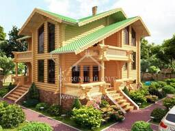 Ecological clean house from Arkhangelsk pine 300-600 sq. m - фото 6