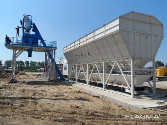 Стационарный бетонный завод SUMAB Т90 (90 м3/ч) Швеция